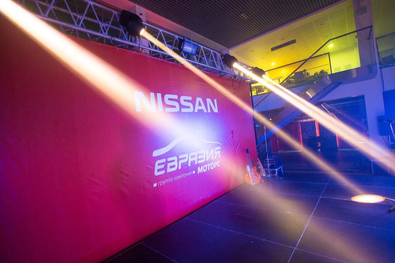 The second Nissan showroom opening Omsk Moscow Russia Oleg Borisov